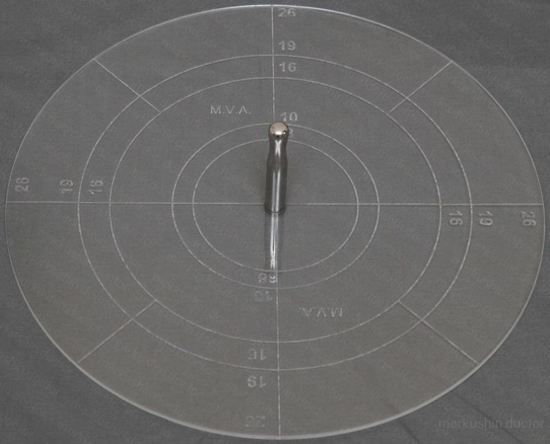 замеры размеров воронки для выбора колокола